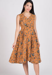 SALE Drape Floral Midi Dress  by Jump Eat Cry - Maternity and nursing wear