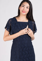 SALE Lace Hi Low Hem Nursing Dress  by Jump Eat Cry - Maternity and nursing wear