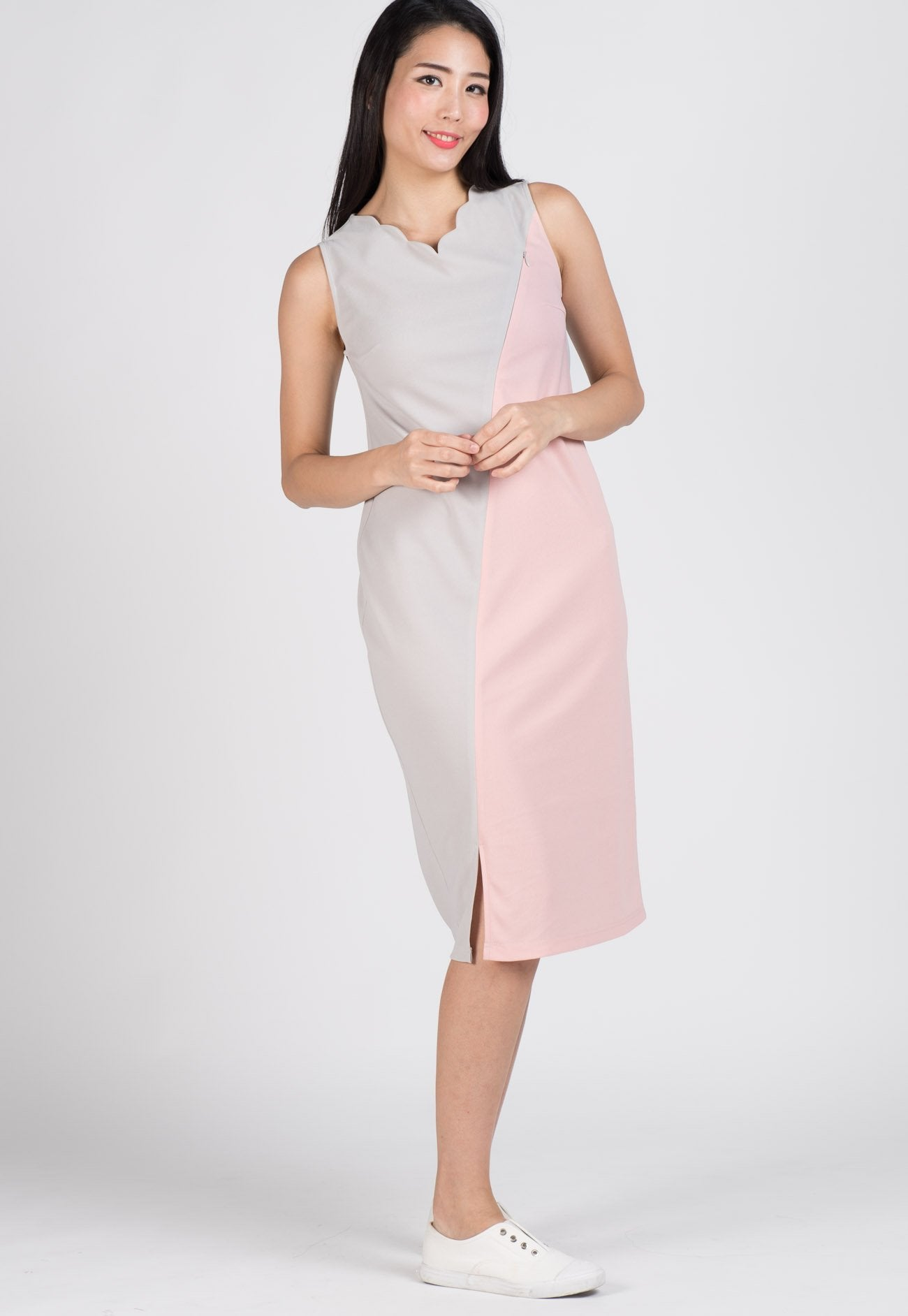 SALE Maddie Scallop Midi Nursing Dress Nursing Wear Mothercot