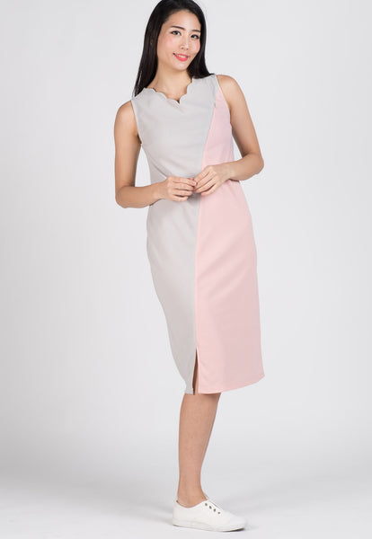 SALE Maddie Scallop Midi Nursing Dress