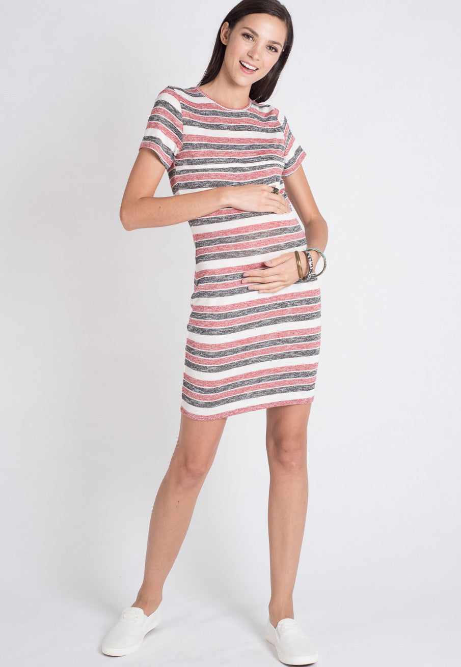 47e2835b3036a3 ... Red Stripes Knitted Nursing Dress by JumpEatCry - Maternity and nursing  wear ...