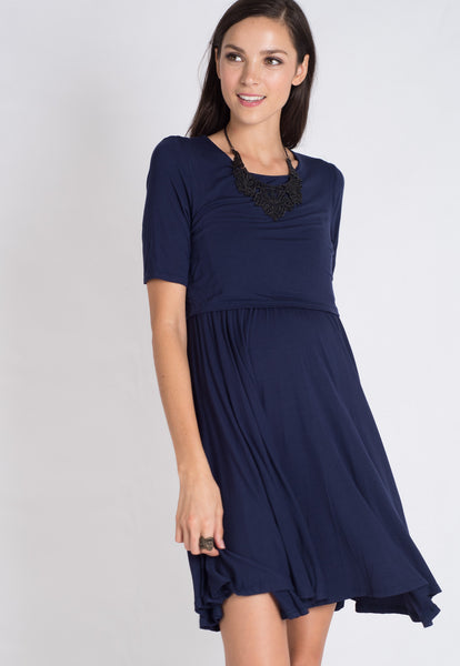Zann Pleats Nursing Dress
