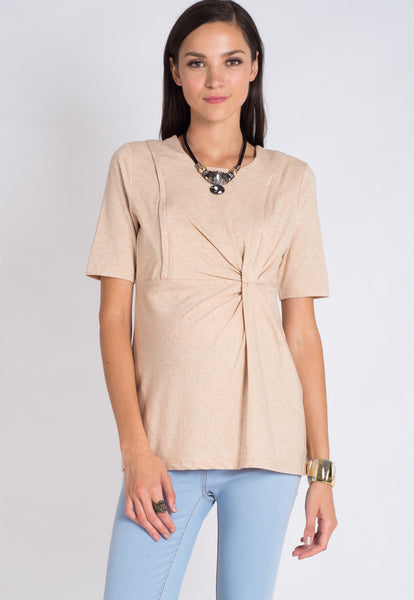 Gold Side Crunch Nursing Top