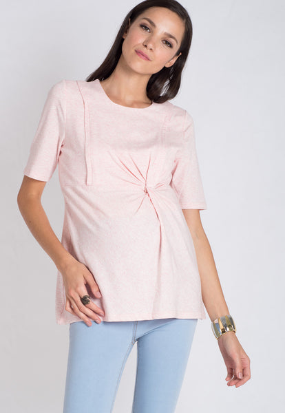 Pink Side Crunch Nursing Top