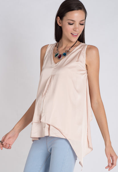 Champagne Satin Nursing Top
