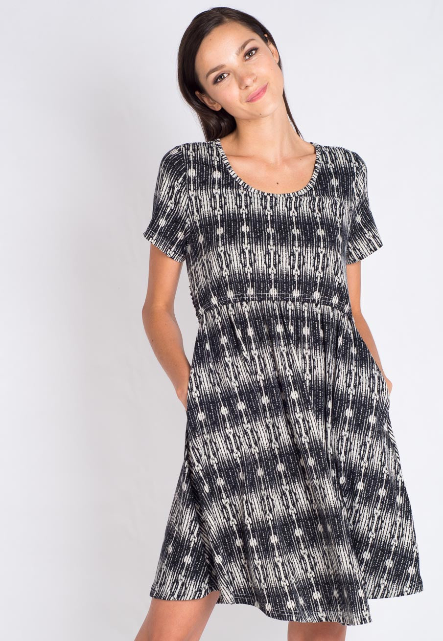 Mothercot SALE Abstract Nursing Dress  - Maternity and nursing wear