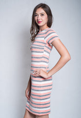 Mothercot Stripes Knitted Nursing Dress  by JumpEatCry - Maternity and nursing wear
