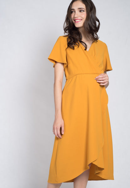 Mustard Luciana Office Nursing Dress