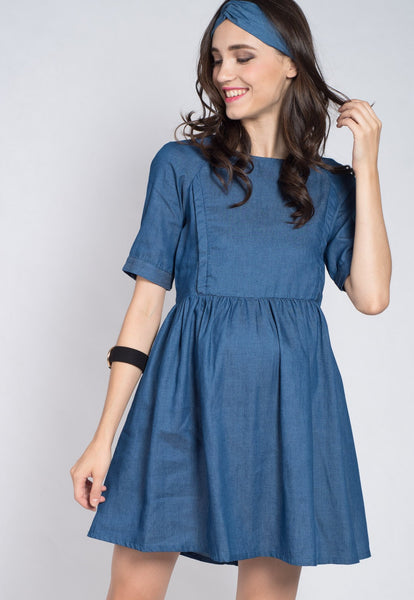 Jeans Empire Nursing Dress