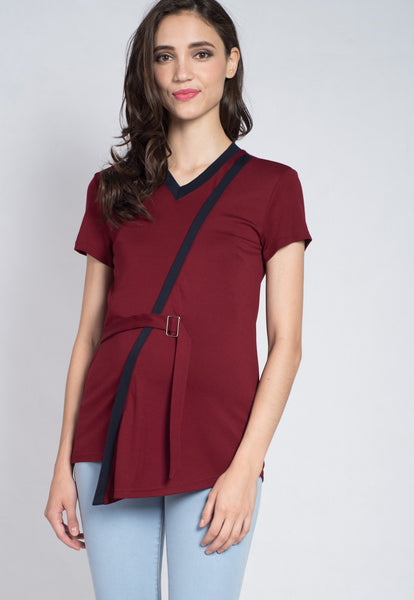 Colour Block Belted Nursing Top