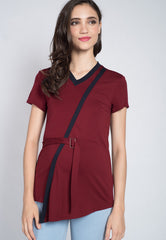 SALE Colour Block Belted Nursing Top  by Jump Eat Cry - Maternity and nursing wear