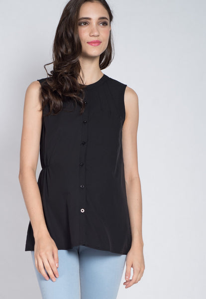 Button Up Nursing Top