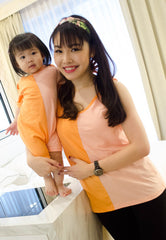 Mothertots SALE Ella Colour Block Nursing Top  by JumpEatCry - Maternity and nursing wear