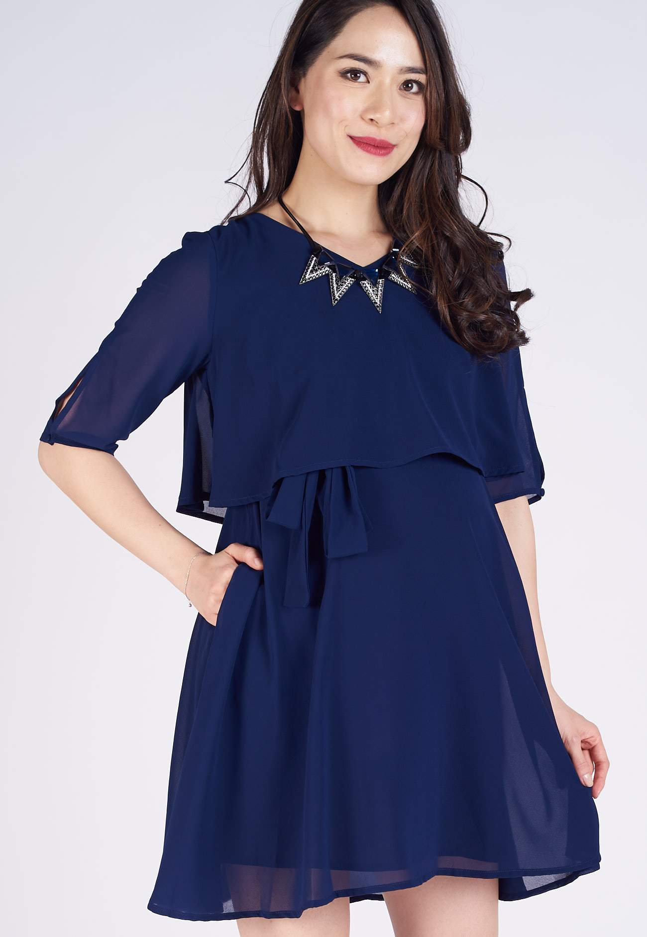 Navy Autumn Nursing Dress