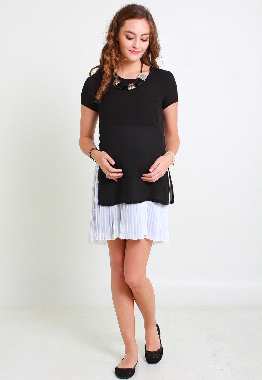 Sale 2 tone pleated maternity dress jumpeatcry sale 2 tone pleated maternity dress ombrellifo Image collections