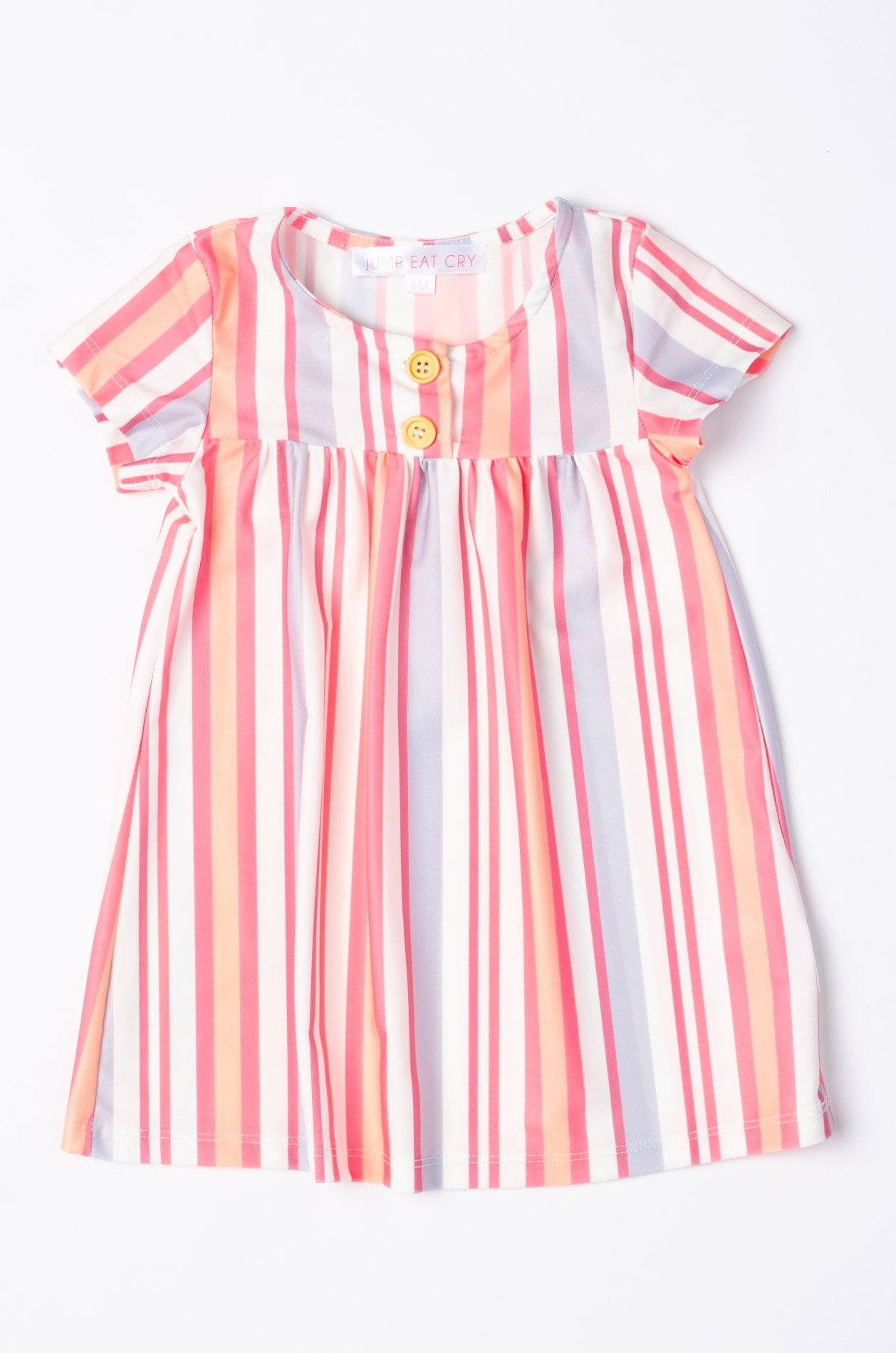 Juliet Rainbow Stripes Girl Dress  by Jump Eat Cry - Maternity and nursing wear