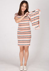 Mothertots Stripes Knitted Romper  by JumpEatCry - Maternity and nursing wear