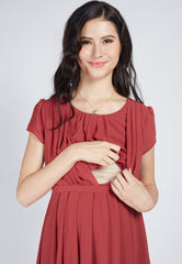 SALE Playful Romance Nursing Dress  by Jump Eat Cry - Maternity and nursing wear