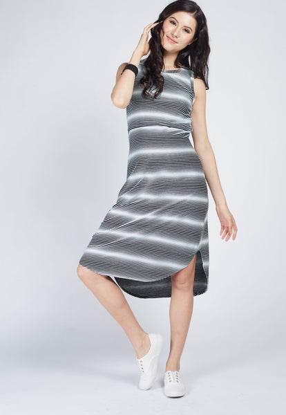 SALE Hi Low Hem Knitted Nursing Dress
