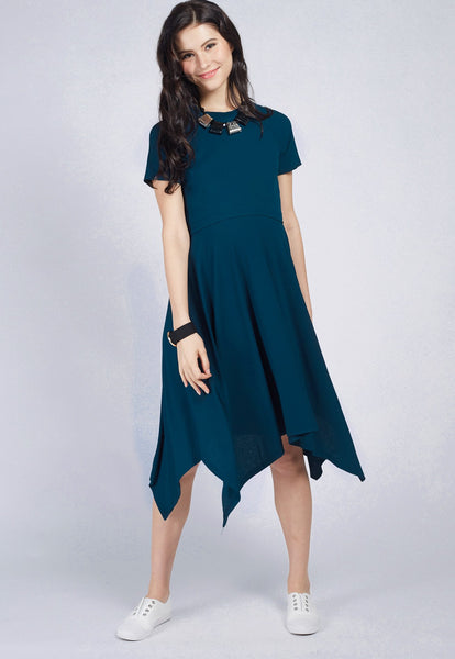 5974582747a Handkerchief Knitted Nursing Dress