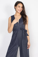 Kiara Nursing Jumpsuit in Navy  by Jump Eat Cry - Maternity and nursing wear
