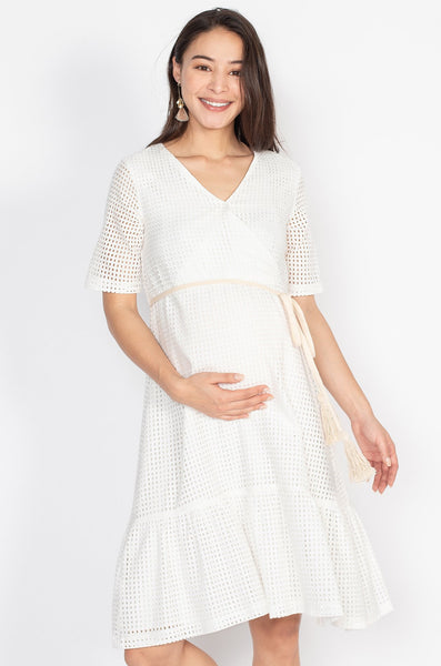 Laura Romantic Lace Nursing Dress