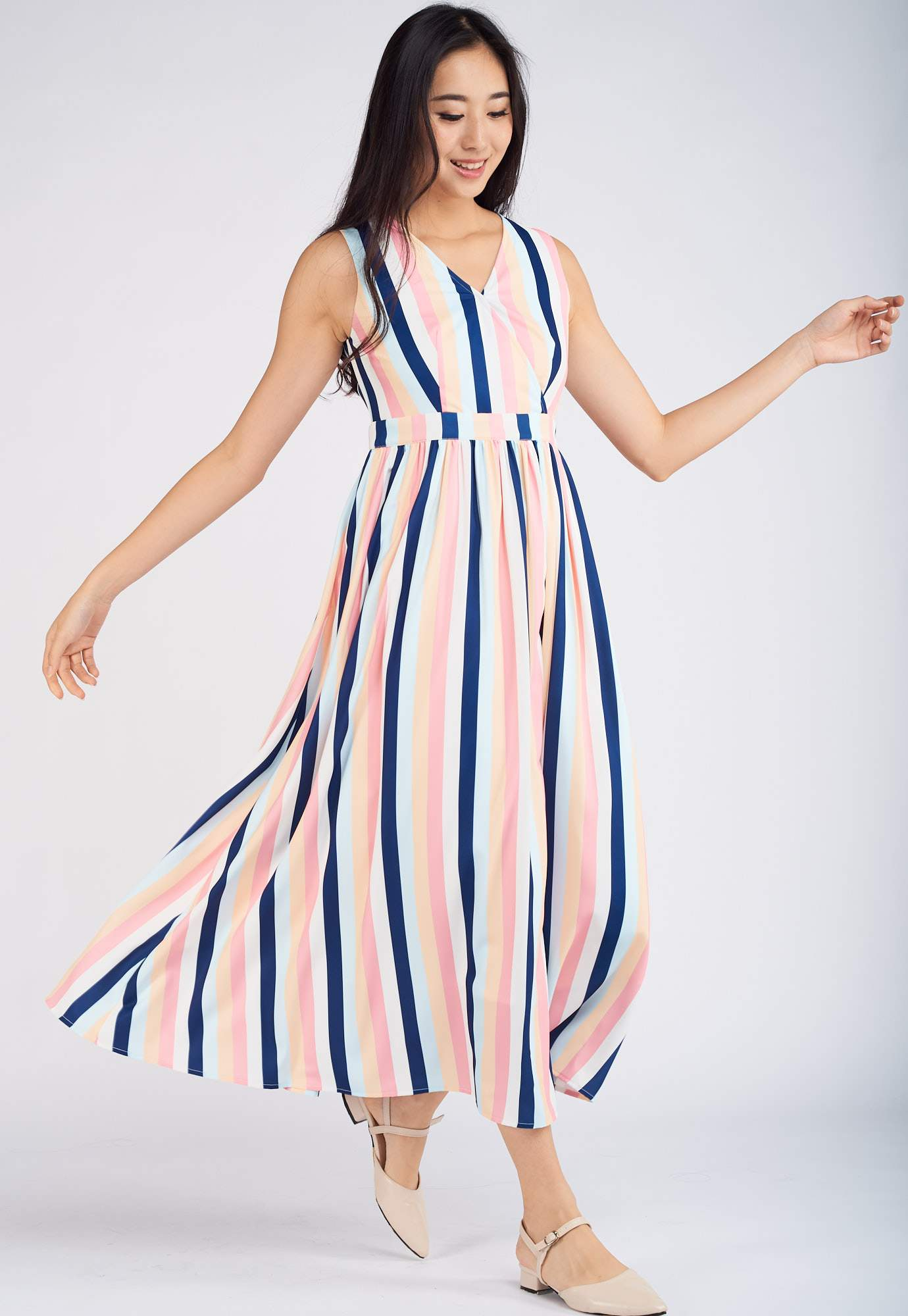 Alana Pleated Nursing Dress  by Jump Eat Cry - Maternity and nursing wear