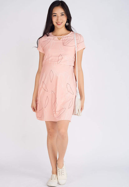 Cayline Printed Nursing Dress