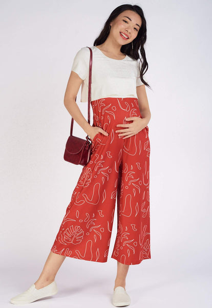 Valia Printed Nursing Jumpsuit