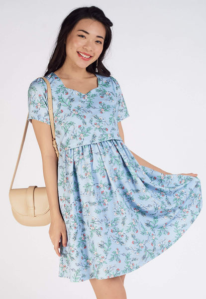 Nala Floral Printed Nursing Dress