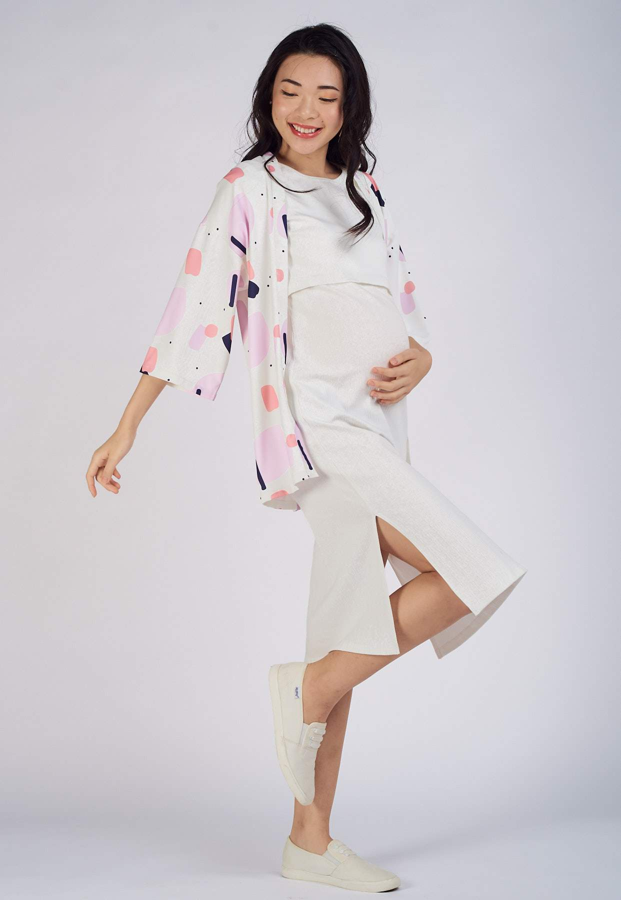 Jane Kimono Top Outerwear  by Jump Eat Cry - Maternity and nursing wear