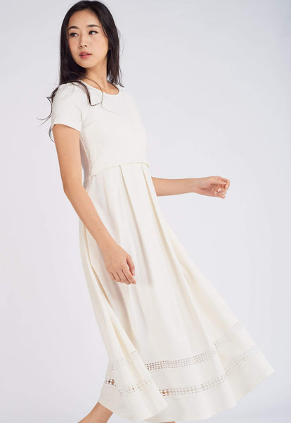 Cassie Eyelet Nursing Dress