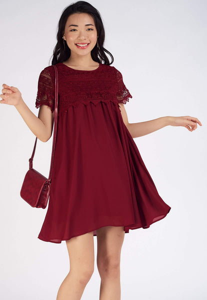 Lita Overlay Lace Nursing Dress
