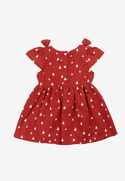Jules Triangles Printed Girl Dress