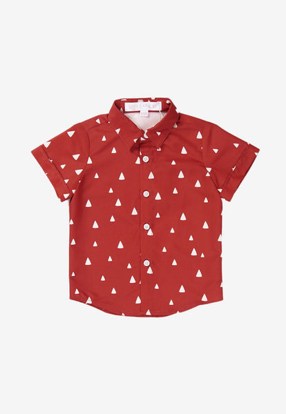 Jules Triangles Printed Boy Shirt