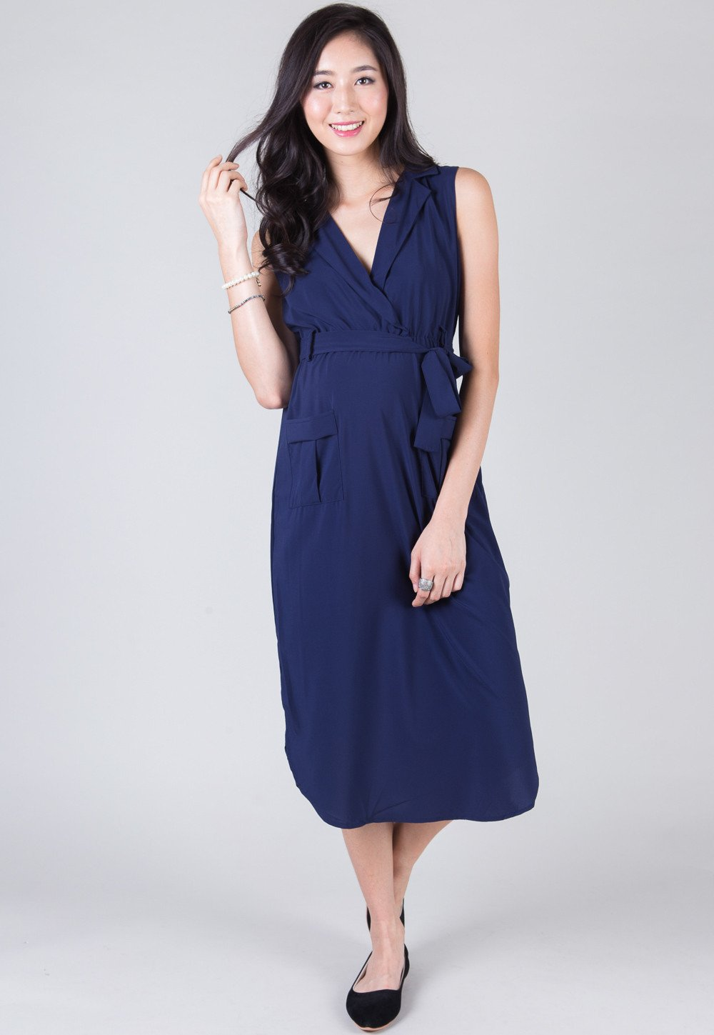 Blue Morning To Night Nursing Dress
