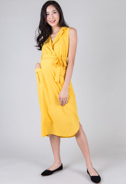 Yellow Morning To Night Nursing Dress