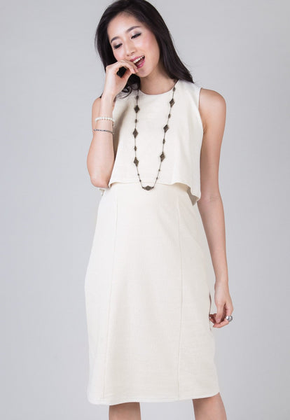 Cream London Midi Nursing Dress