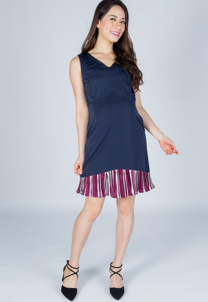 Darcia Pleats Nursing Dress