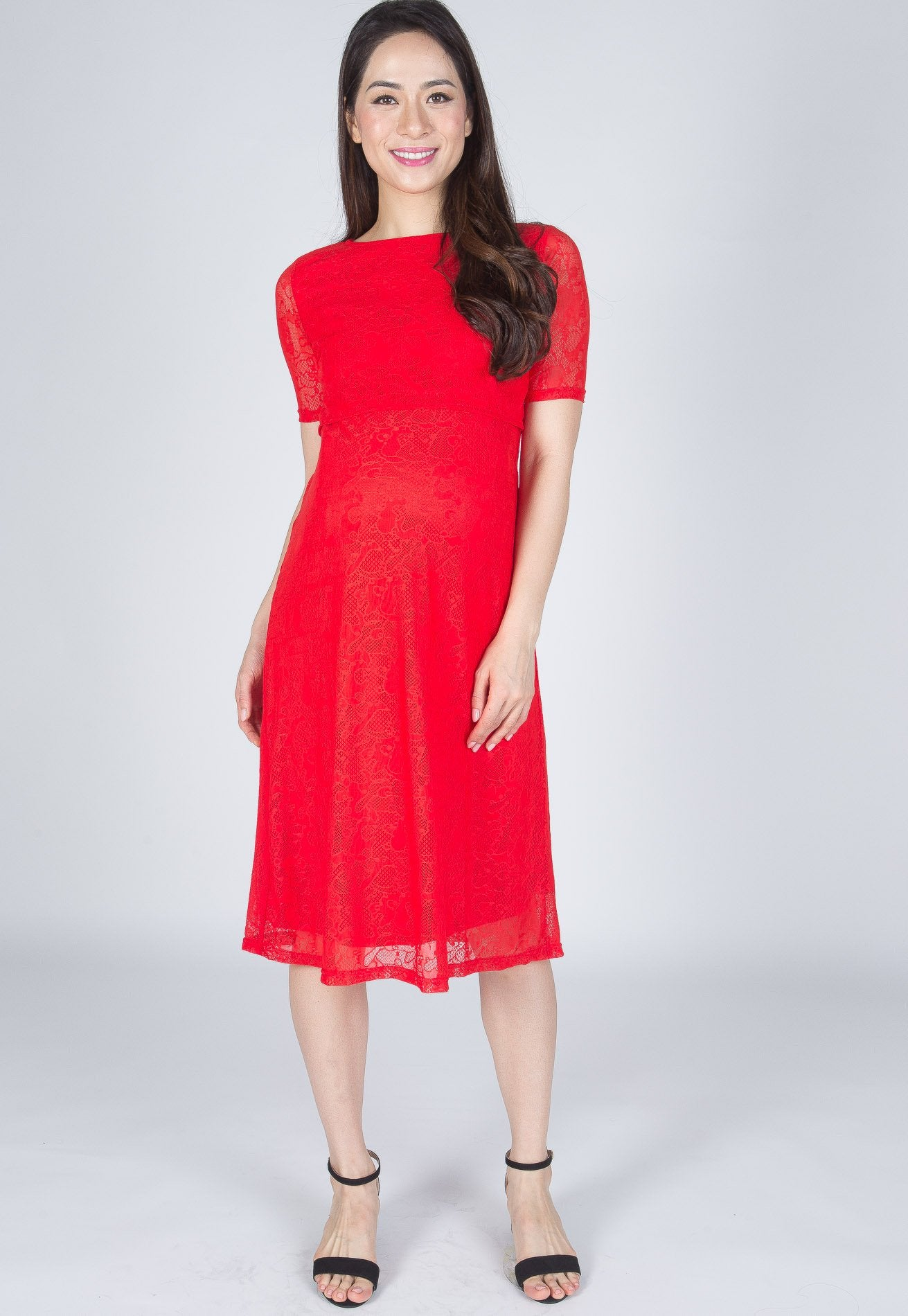 fe50283848f ... Mothercot SALE Red Abigail Nursing Dress by JumpEatCry - Maternity and nursing  wear ...