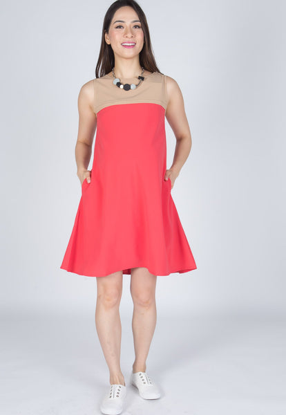 Altha Dual Colour Nursing Dress