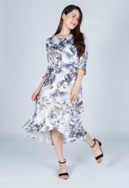 Odine Floral Nursing Wrap Dress