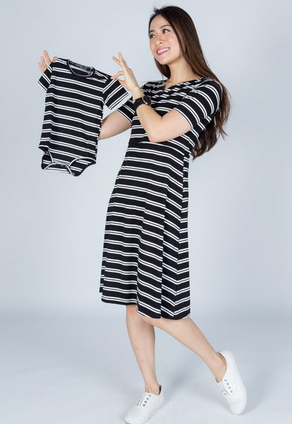Avery Stripes Nursing Dress