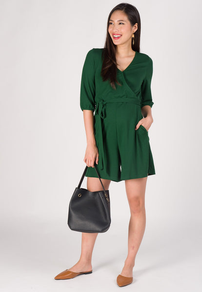 Mara Nursing Romper in Green