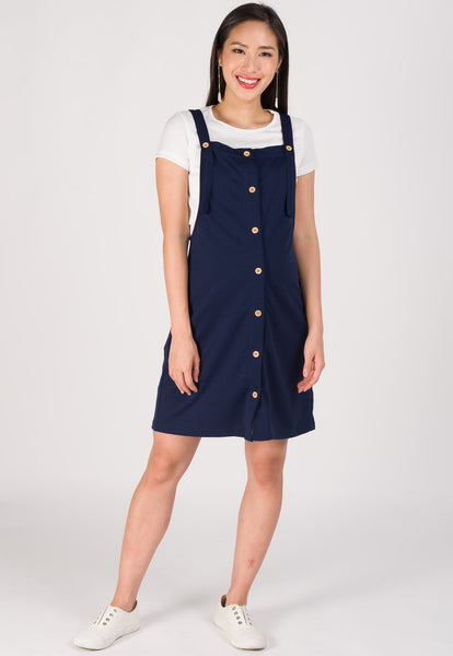 Maya Overall Nursing Dress in Blue