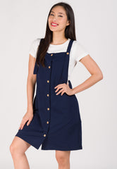 Maya Overall Nursing Dress in Blue Nursing Wear Mothercot