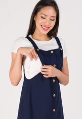 Maya Overall Nursing Dress in Blue  by Jump Eat Cry - Maternity and nursing wear