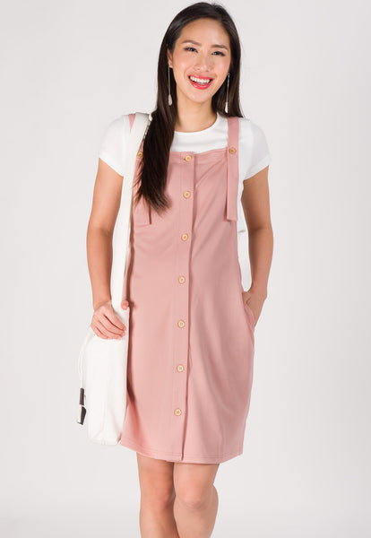 Maya Overall Nursing Dress in Pink