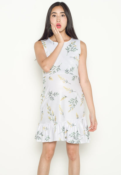 Olivia Printed Flowers Nursing Dress