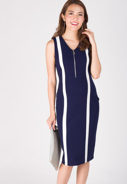 Urban Bodycon Nursing Dress in Navy
